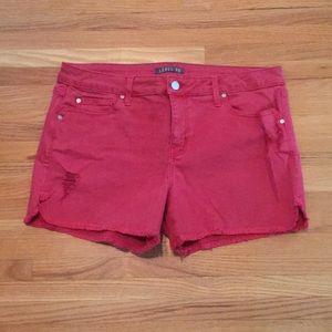 Level 99 Adelynn distressed side slit denim shorts